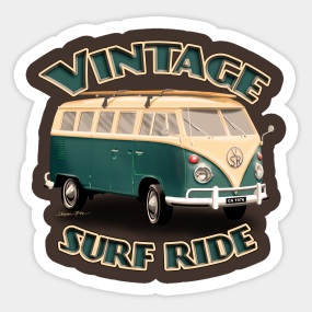 b303b3e2 Surf Bus Stickers | TeePublic