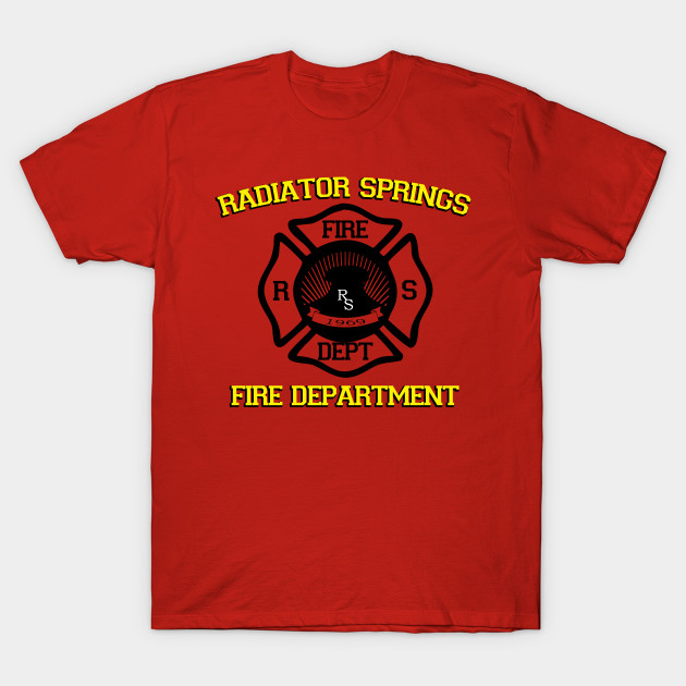 Radiator Springs Fire Department Disney T Shirt Teepublic