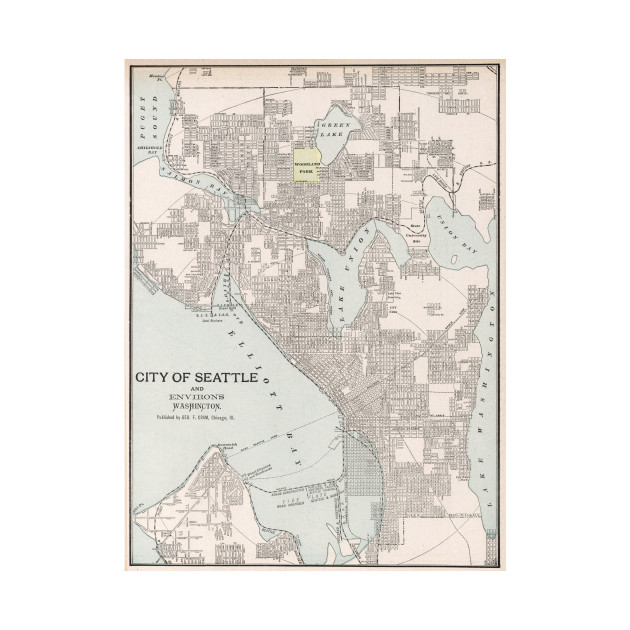 Vintage Map of Seattle Washington (1901) on tulsa oklahoma map, oregon map, austin texas map, mount rainier map, world map, seattle neighborhood map, washington state map, spanaway washington map, puget sound washington map, usa map, lynnwood washington map, united states map, downtown seattle map, st. louis map, seattle wa, georgetown seattle map, seattle city limits map, sequim washington map, city of seattle boundary map,