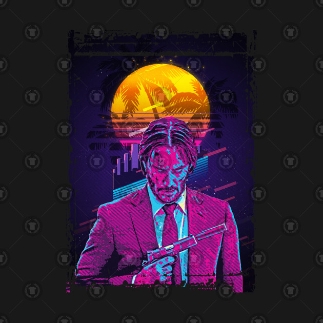 John Wick retro art