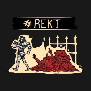 REKT - Dark Souls t-shirts