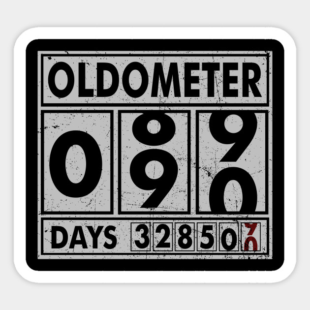 OLDOMETER 90 Years Old Made In 1928 90th Birthday Sticker