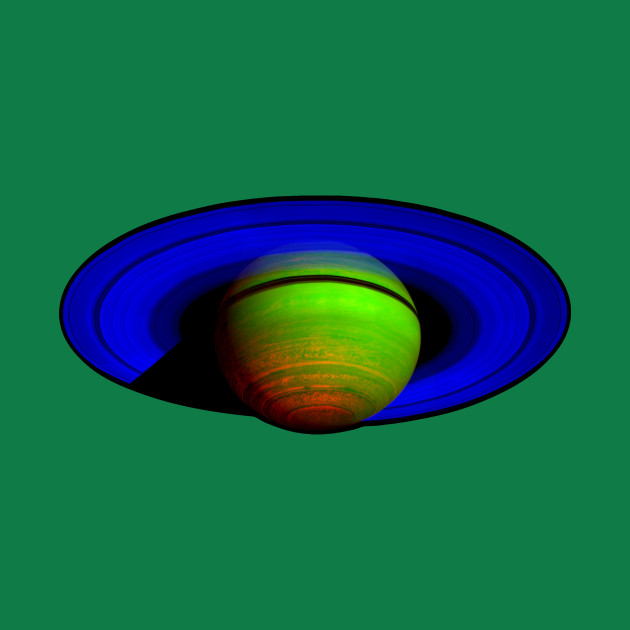 Saturn in Blue and Green