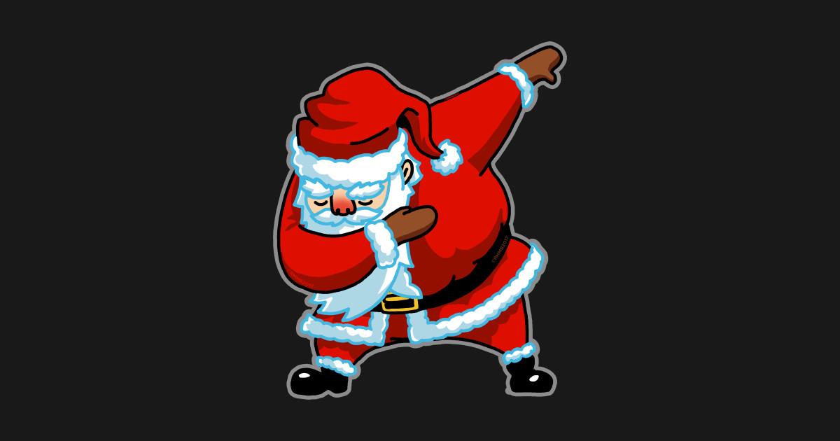 Dabbing Santa Christmas Tshirt Gift Dab Santa Claus T