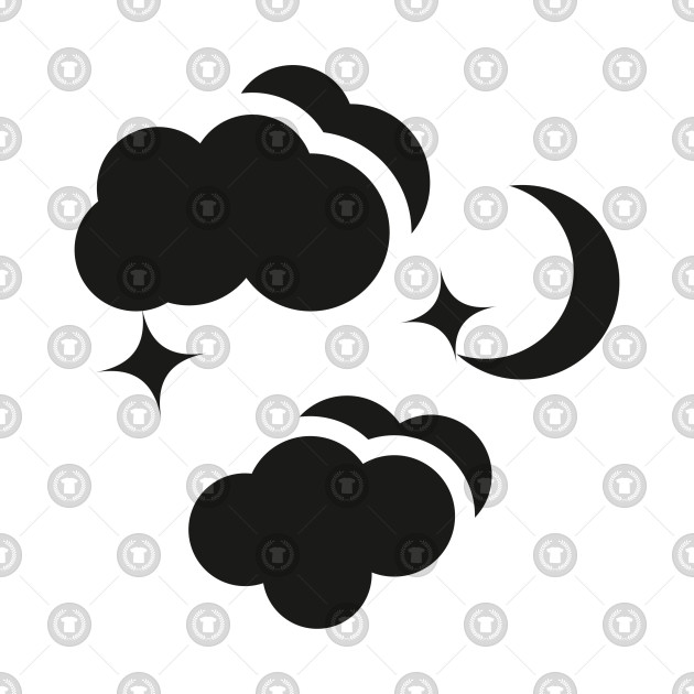 Trendy Night And Clouds Weather Collection