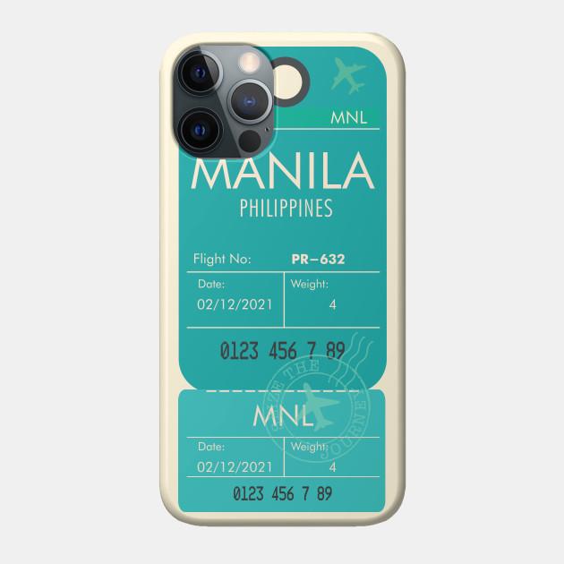 MANILA PHILIPPINES MINT RETRO PLANE TICKET PHONE CASE FILIPINO