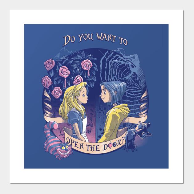 Coraline Alice Open The Door Coraline Posters And Art Prints Teepublic Au