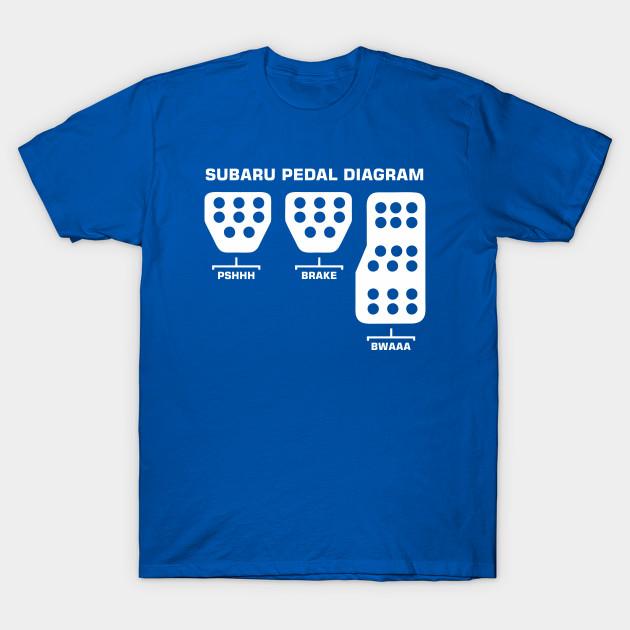 Subaru Pedal Diagram Subaru Pedal Diagram T Shirt Teepublic