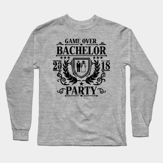 8cb596f9 Mens Bachelor Party 2018 Groom Squad Stag Night T Shirt Gift Long Sleeve T- Shirt