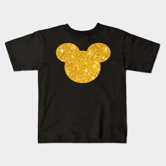eaeadef3f Mouse Gold Glitter Style - Mickey Mouse - Kids T-Shirt | TeePublic