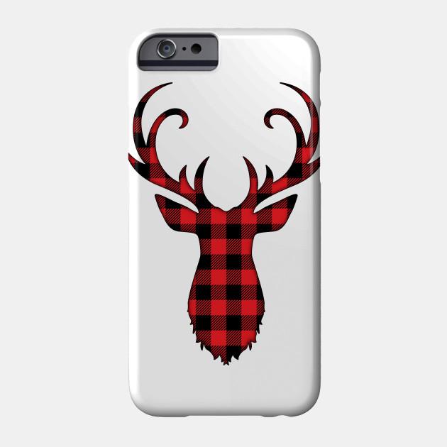 Plaid Deer Christmas, Deer Reindeer Perfect for Christmas Gift Phone Case