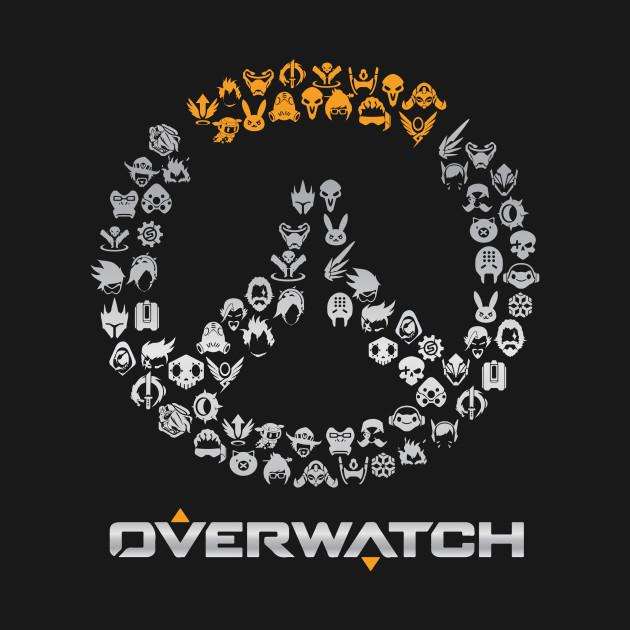 Overwatch Logo Character Heads