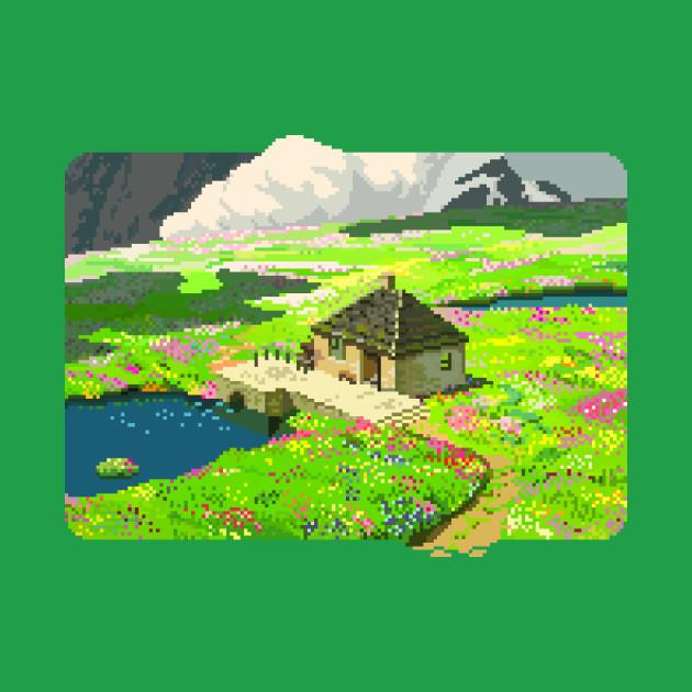 Howl's Moving Castle - Flower field