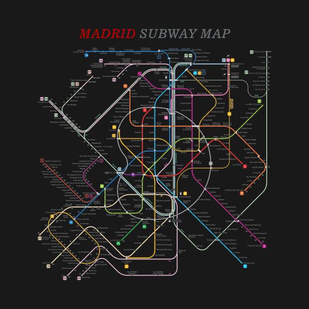 Subway Map Graphic Design.Madrid Subway Map Metro Underground