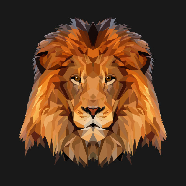 lion low poly art lion t shirt teepublic. Black Bedroom Furniture Sets. Home Design Ideas