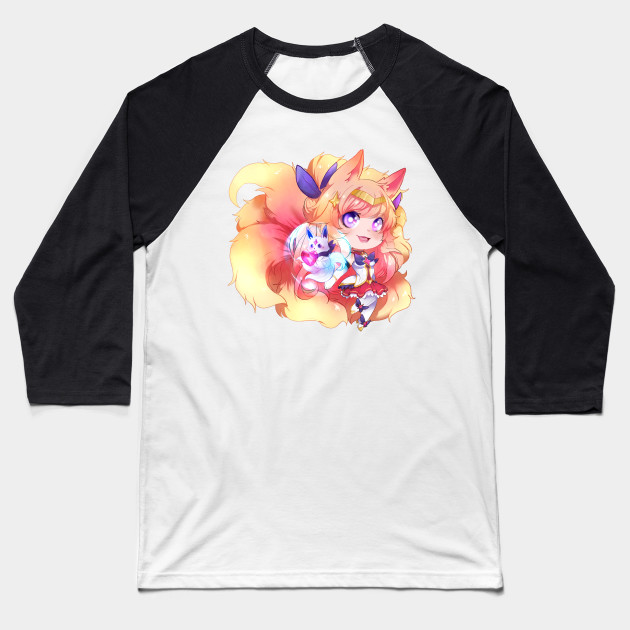 dd1de2238 star guardian- Ahri - League Of Legends - Baseball T-Shirt | TeePublic