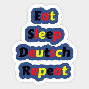 Deutsch Lernen Stickers   TeePublic