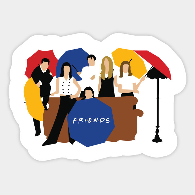 Friends Umbrella Friends Sticker Teepublic