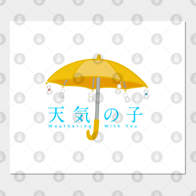 Weathering With You Rain Doll Umbrella Japanese English Title Weathering With You Posters And Art Prints Teepublic