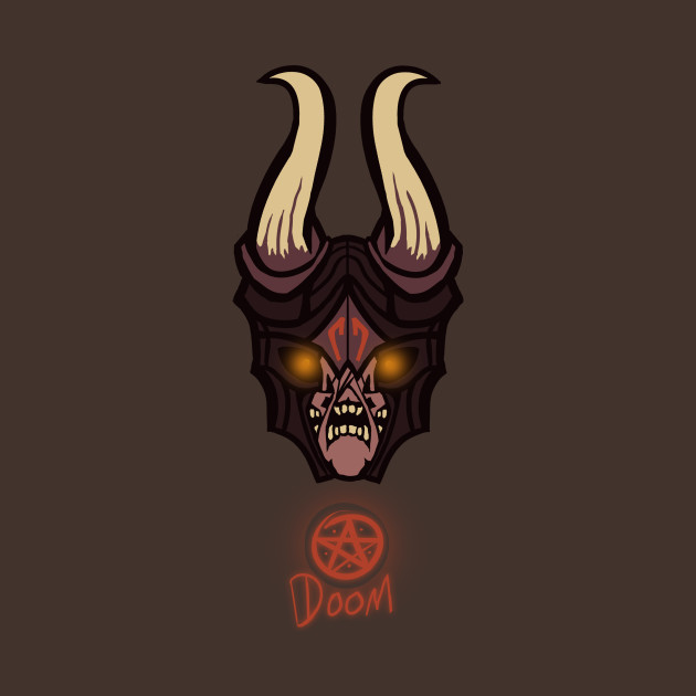 doom dota 2 lucifer t shirt teepublic