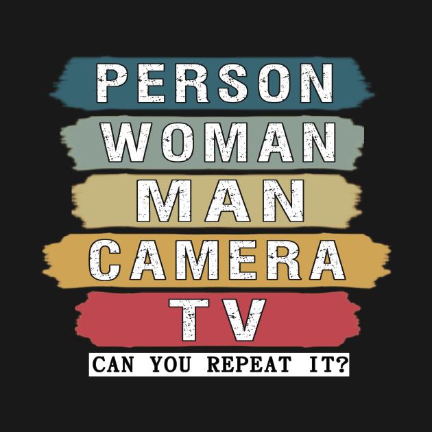person woman man camera tv