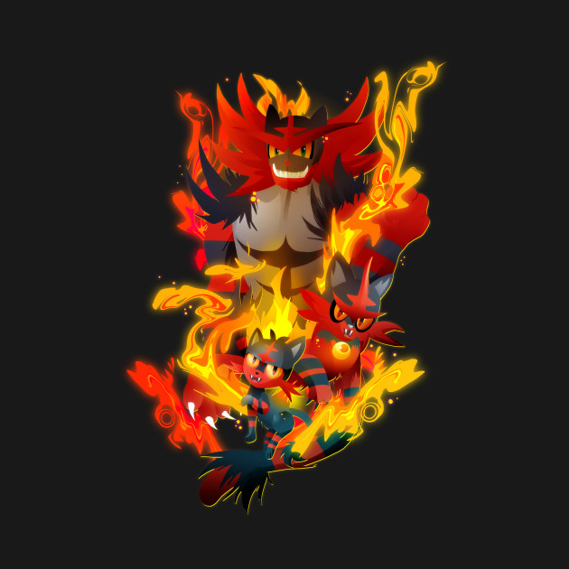 Litten, Torracat and Incineroar