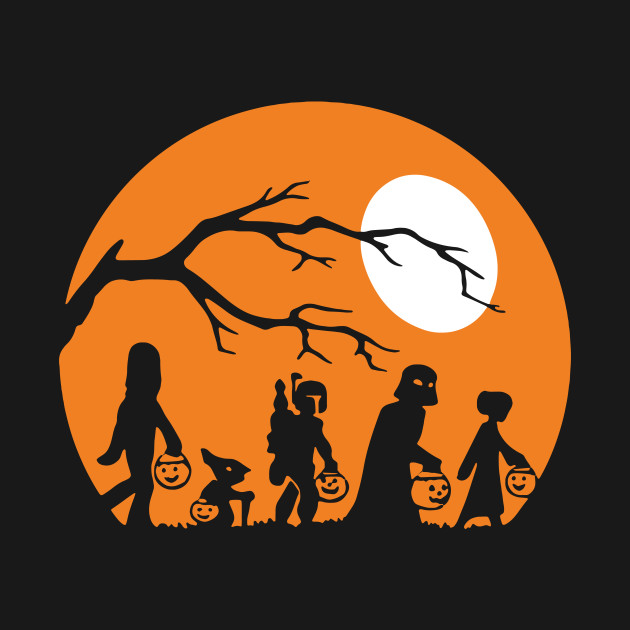 Halloween Trick Or Treat Silhouette.Trick Or Treat Halloween Silhouette Premium Shirt