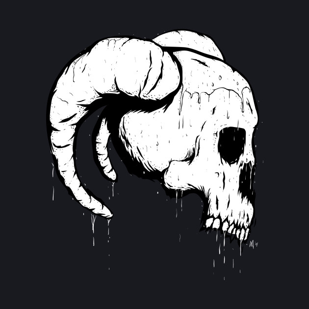 Morbid Skull With Ram Horns