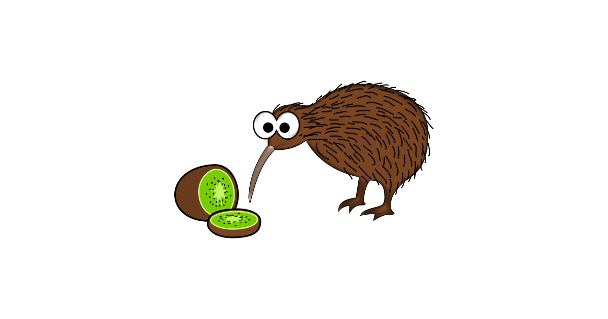 LIMITED EDITION. Exclusive Cartoon Kiwi Bird With Kiwi ...