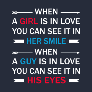 When a girl and a guy in love