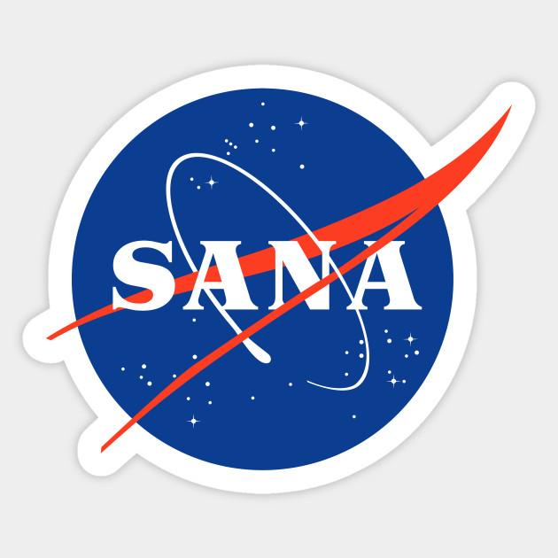 TWICE SANA NASA LOGO PARODY