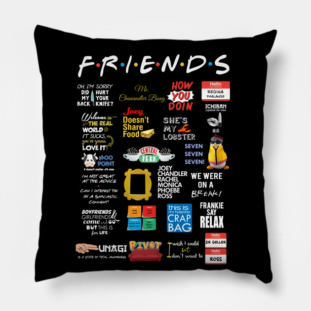 friends quotes friends pillow uk
