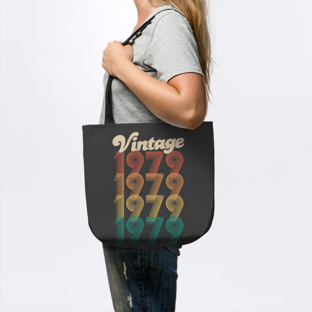 40th Birthday Gift Tote Mam Shopping Cotton Bag Ancient 1979 All Original Parts