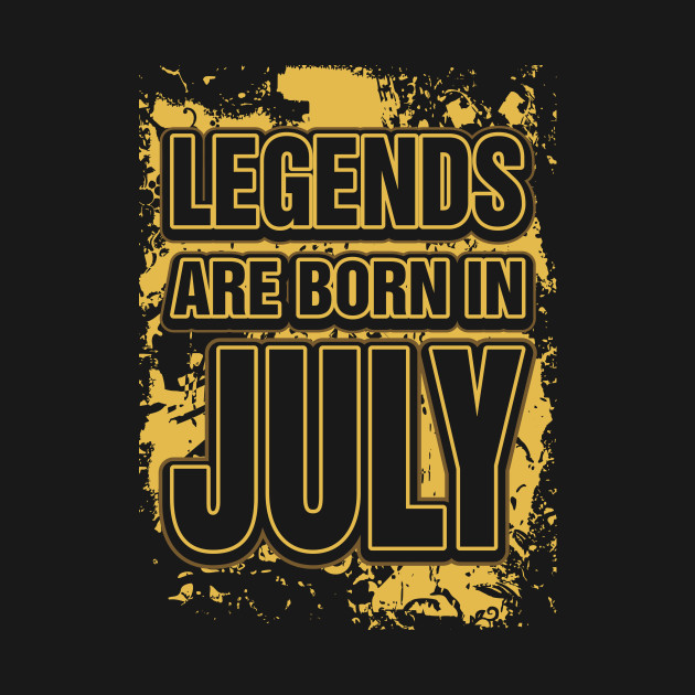f2bf90a48 Legends Are Born In July - Unicorn - T-Shirt | TeePublic