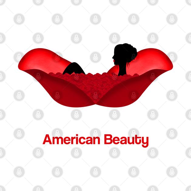 American Beauty movie fan art roses bath scene