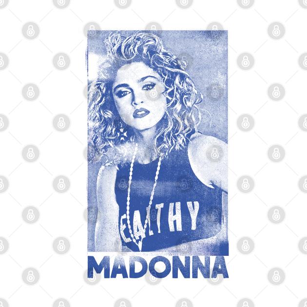 Madonna // Original 80s Vintage Faded Style Design