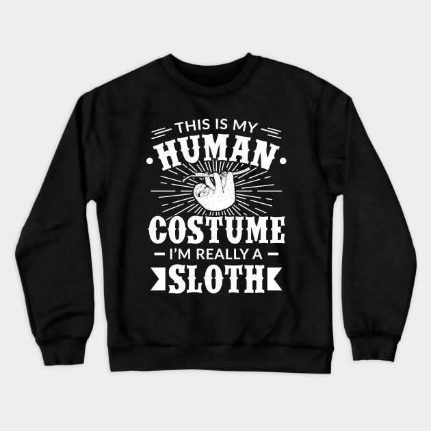 Halloween Human Sloth Costume Mens T Shirt