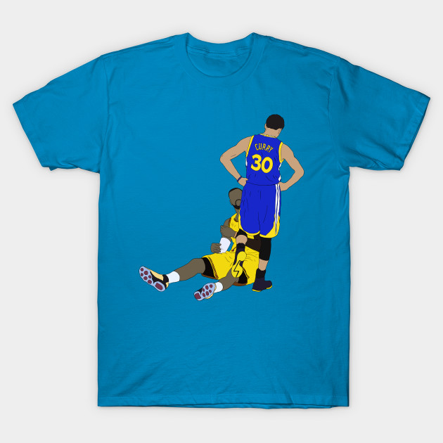 quality design 7d534 a3d63 Steph Curry Standing Over LeBron