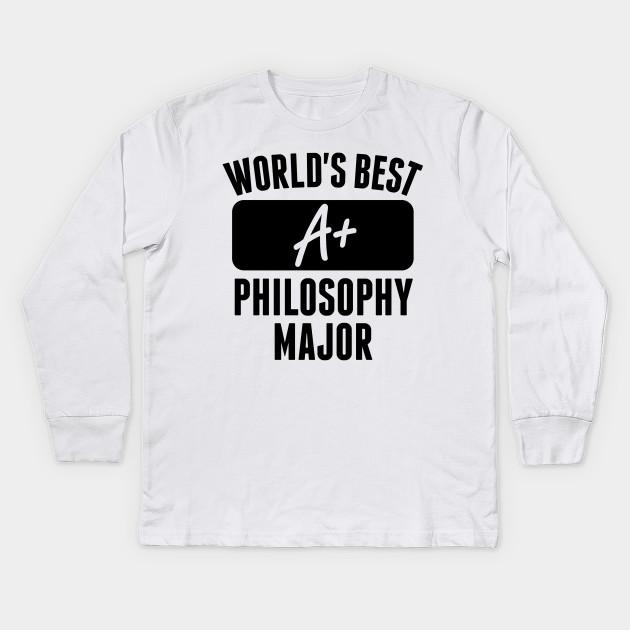 54a04fc8 World's Best Philosophy Major - Philosophy Major - Kids Long Sleeve ...