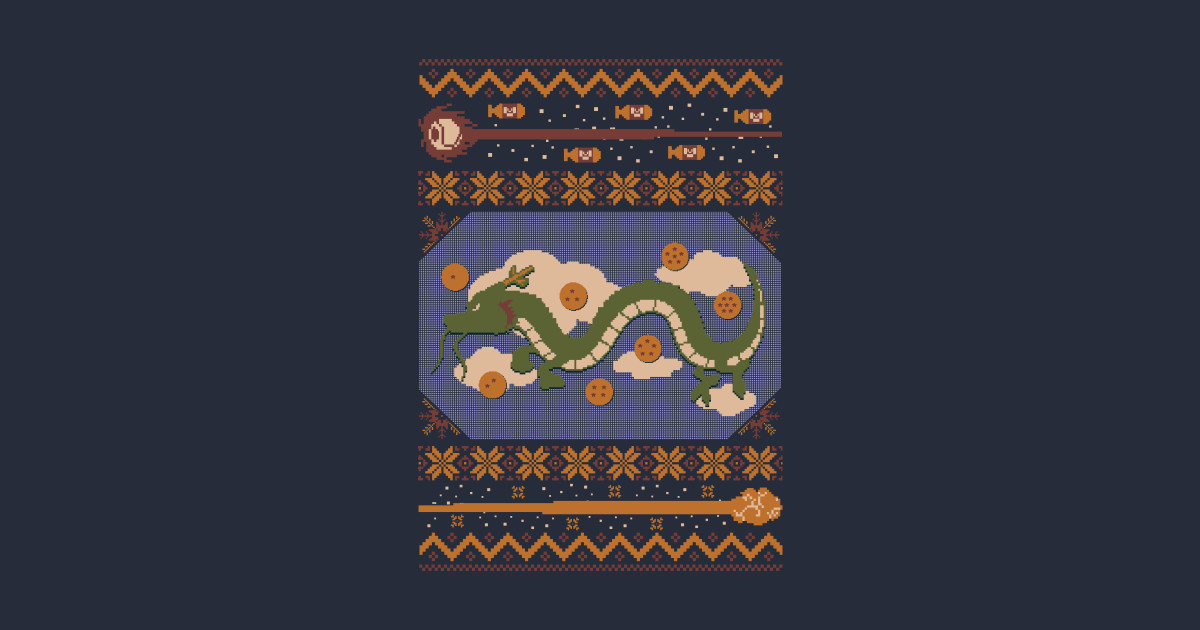 Kamehameha Ugly Sweater - Ugly Christmas Sweater - T-Shirt | TeePublic