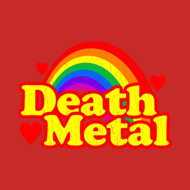 Funny Death Metal Rainbow (vintage distressed look)