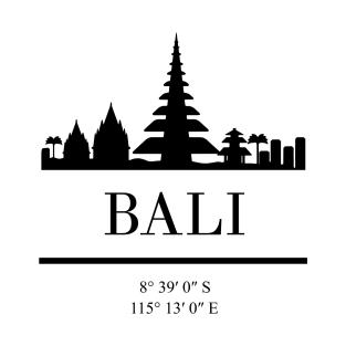 bali t shirts teepublic Indonesia Surf Spots bali indonesia black silhouette skyline art t shirt