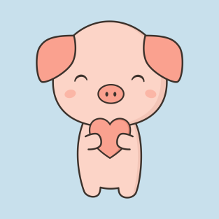 Pig kawaii. T shirts teepublic
