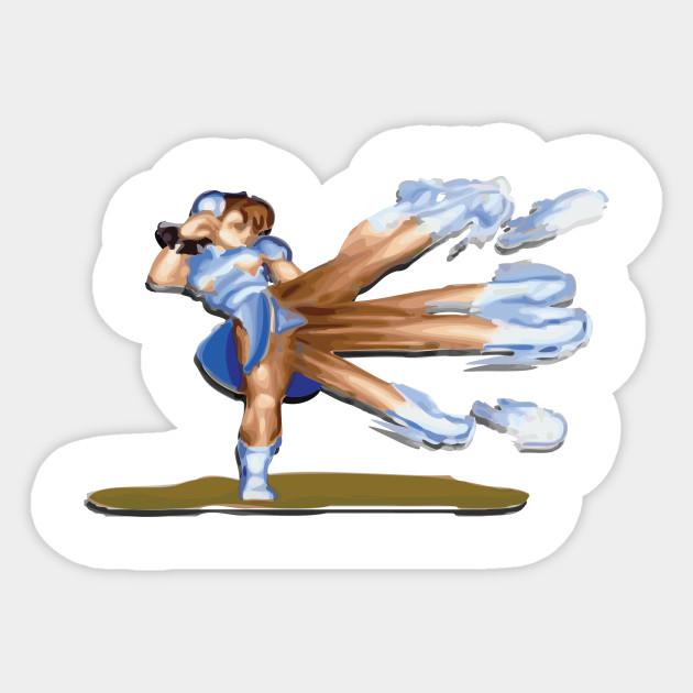 Chun Li Kick Large Chun Li Sticker Teepublic