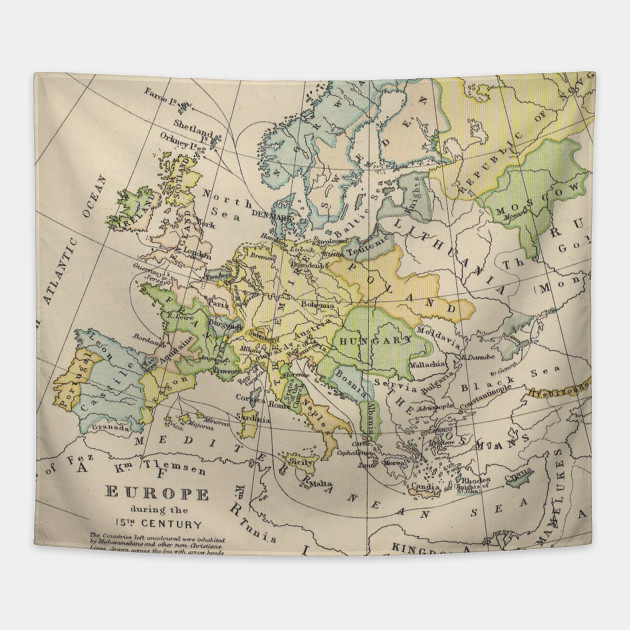 Vintage Map of Europe (1905) on