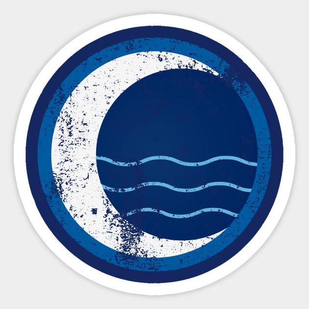 Water Tribe Logo Distressed Avatar Sticker Teepublic