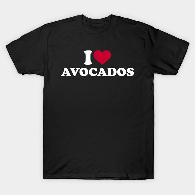 I Love Heart Organic Food T-Shirt