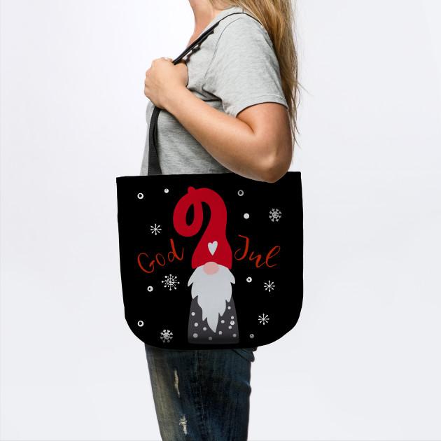 God Jul Gnome Tomte Tee Lefse Xmas Gift Santa Christmas Gift T-Shirt