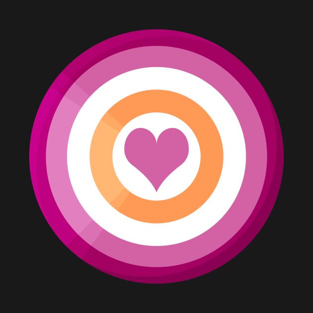 Pride Shield - Lesbian Flag
