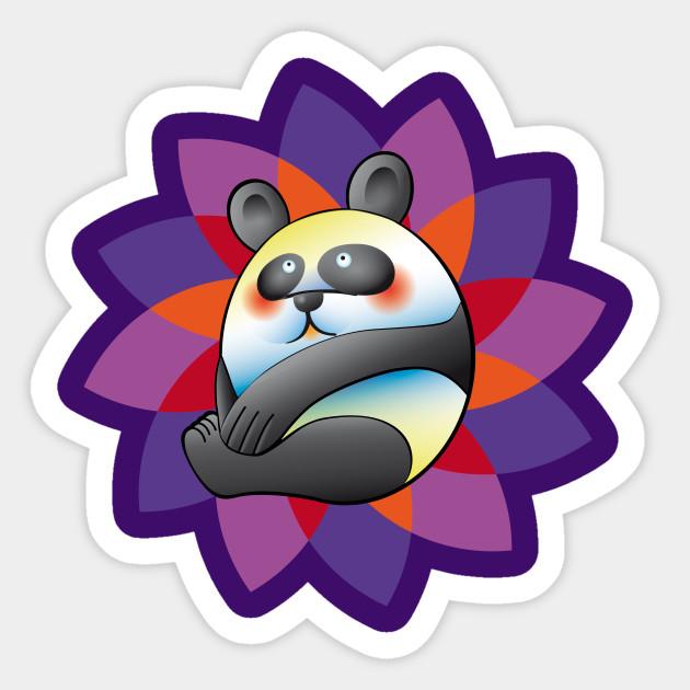 colorful panda bear panda sticker teepublic